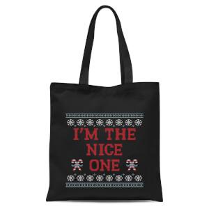 Im The Nice One Tote Bag - Black