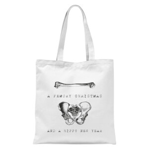A Femury Christmas and A Hippy New Year Tote Bag - White