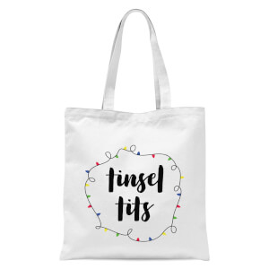 Tinsel T**s Tote Bag - White