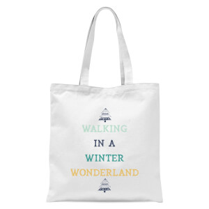 Walking In A Winter Wonderland Tote Bag - White