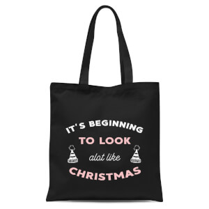 Its Beginning To Look A Lot Like Christmas Tote Bag - Black