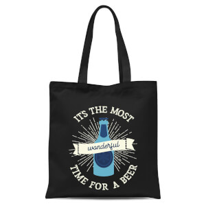 Its The Most Wonderful Time for A Beer Tote Bag - Black