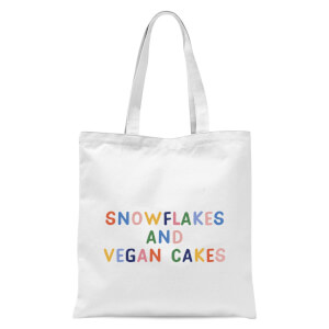 Snowflakes and Vegan Cakes Tote Bag - White