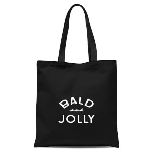 Bald and Jolly Tote Bag - Black
