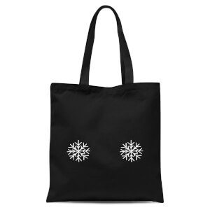 Snowflakes Tote Bag - Black