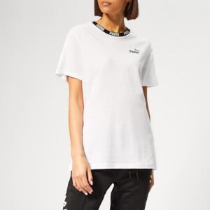 Puma Women's Amplified Boyfriend Short Sleeve T-Shirt - Puma White
