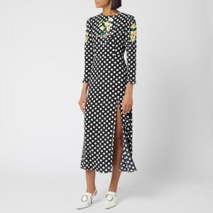 RIXO Women's Clemmie Polka Dot Dress - Black