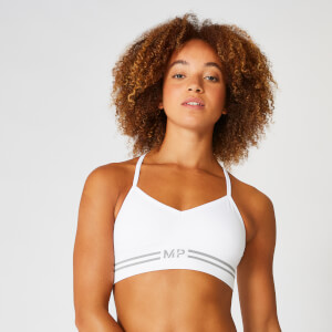 Myprotein Seamless Crop Bra Top - White