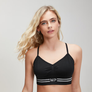 Myprotein Seamless Crop Bra Top - Black