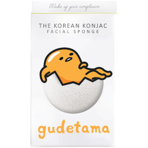 The Konjac Sponge Company Sanrio Gudemata Konjac Sponge Box and Hook -kasvosienisetti 30g, White