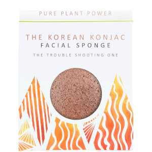 Esponja facial The Elements Fire de The Konjac Sponge Company - Escoria volcánica purificante 30 g