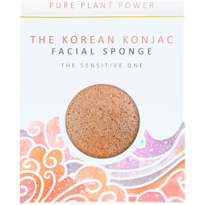 The Konjac Sponge Company The Elements Air Facial Sponge -kasvosieni 30g, Calming Chamomile/Pink Clay