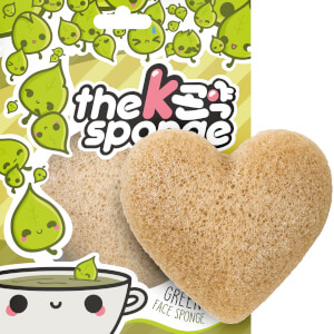 Спонж в форме сердца The Konjac Sponge Company K-Sponge Heart Sponge — Green Tea 12 г