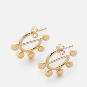 JW Anderson Women's Disc Mini Hoop Earrings - Gold