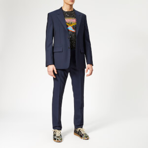 Maison Margiela Men's Two Ply Wool Popeline Suit - Navy