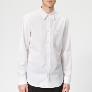Maison Margiela Men's Slim Fit Garment Dyed Shirt - White