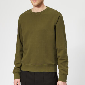 Maison Margiela Men's Basic Elbow Patch Sweatshirt - Olive