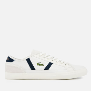 817d1460b Lacoste Men s Sideline 119 3 Leather Trainers - Off White Navy