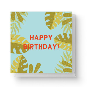 Happy Birthday Square Greetings Card (14.8cm x 14.8cm)