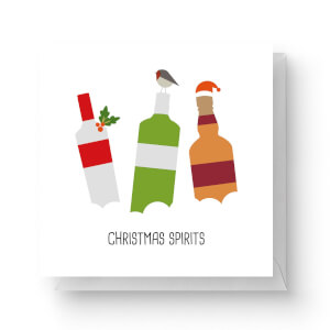 Christmas Spirits Square Greetings Card (14.8cm x 14.8cm)