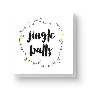 Jingle Balls Square Greetings Card (14.8cm x 14.8cm)