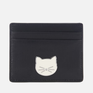 Karl Lagerfeld Women's K/Klassik Pins Card Holder - Black
