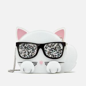Karl Lagerfeld Women's Choupette Minaudiere Bag - White