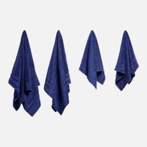 in homeware Supersoft 100% Cotton 4 Piece Towel Bale - Navy