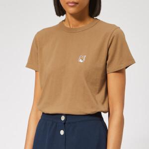 Maison Kitsuné Women's Fox Head Patch T-Shirt - Beige