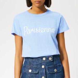 Maison Kitsuné Women's Parisienne T-Shirt - Light Blue