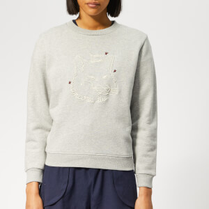 Maison Kitsuné Women's Fox Drawing Sweatshirt - Grey
