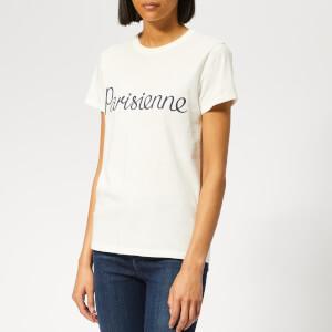 Maison Kitsuné Women's T-Shirt Parisienne - Latte