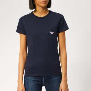Maison Kitsuné Women's Tricolor Fox Patch T-Shirt - Navy