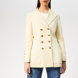 Philosophy di Lorenzo Serafini Women's Military Style Blazer - Cream