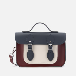 The Cambridge Satchel Company Women's 11 Inch Tri Colour Batchel - Clay/Oxblood/Navy