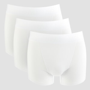 MP Men's Essentials Training Boxers - White (3 Pack)