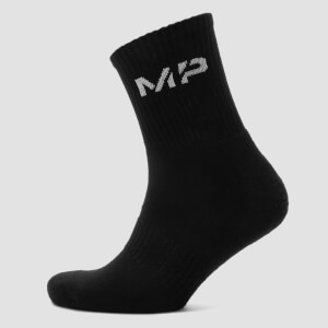 Men's Crew Socks - Black (2 Pack)