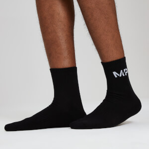 Essentials Men's Crew Socks - Black (2 Pack)