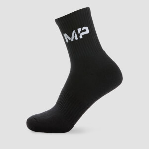 MP Essentials Men's Crew Socks - Black (2 Pack)