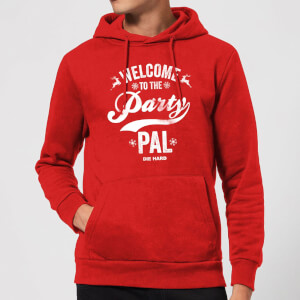 Die Hard Welcome To The Party Pal Christmas Hoodie - Rot