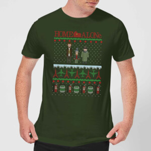 Home Alone Men's Christmas T-Shirt - Forest Green