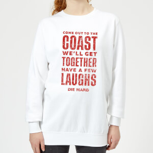 Die Hard Come To The Coast Women's Christmas Sweatshirt - White