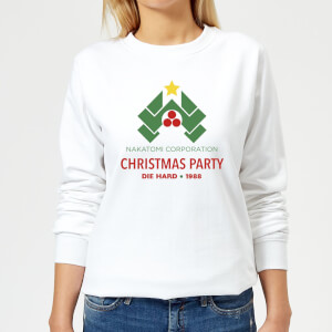 Die Hard Nakatomi Christmas Party Women's Christmas Sweatshirt - White