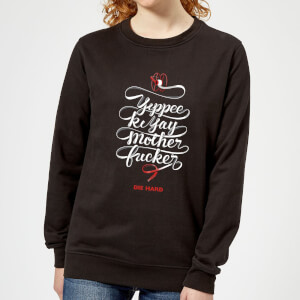 Die Hard Yippee Ki Yay Women's Christmas Sweatshirt - Black