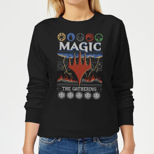 Sudadera Navideña Magic The Gathering Colours of Magic - Mujer - Negro