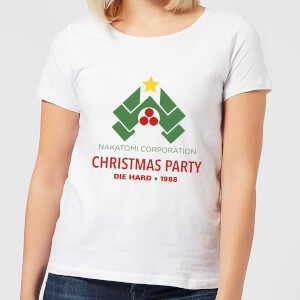 Die Hard Nakatomi Christmas Party Women's Christmas T-Shirt - White