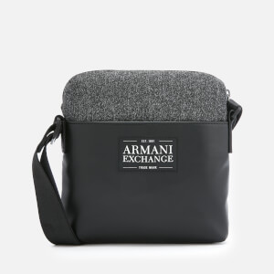 Armani Exchange Men's Small Cross Body Bag - Dark Grey/Black