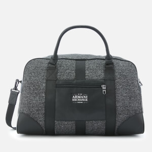 Armani Exchange Men's Duffle Bag - Dark Grey/Black