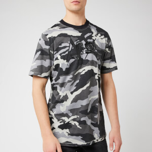 Armani Exchange Men's Camo Printed T-Shirt - Grey Camo