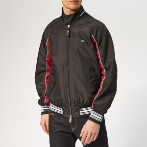 Armani Exchange Men's Colour Detail Blouson Jacket - Black/Biking Red